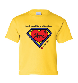 Behind Every CHD Is A Heart Hero Available in Infant, Toddler, and Youth Sizes