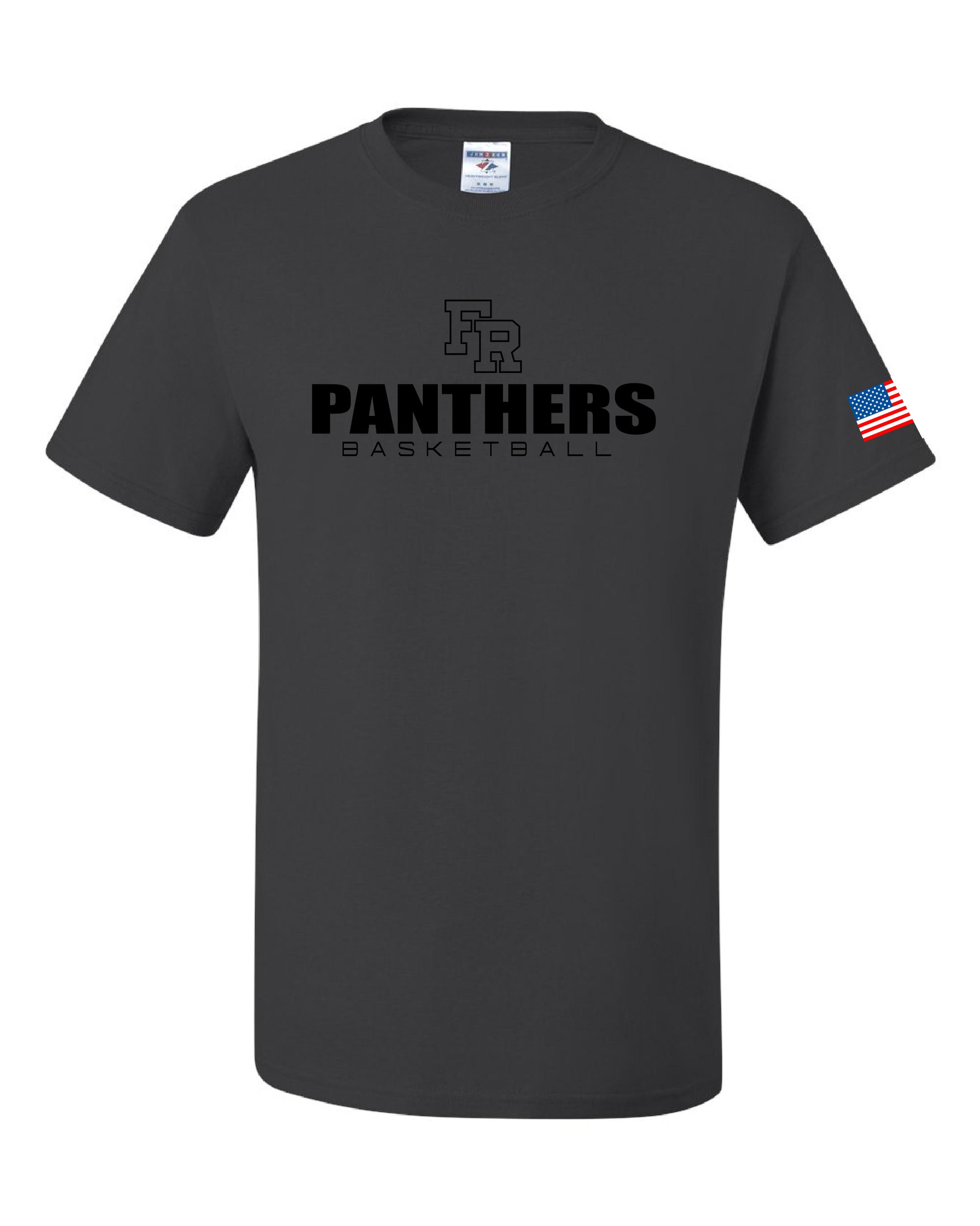 Gildan - DryBlend 50/50 T-Shirt - 6th Man - With Flag