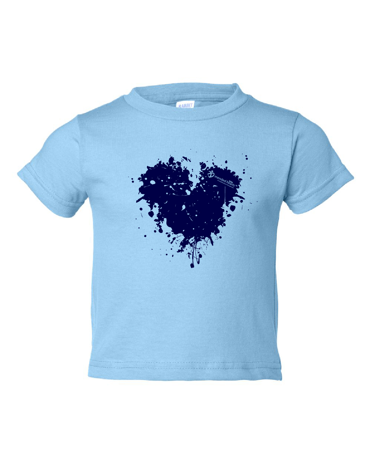 Splatter Heart Toddler Shirts Available in Multiple Colors