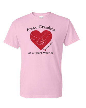 Proud Grandma T-Shirt - Available in Light Pink or White
