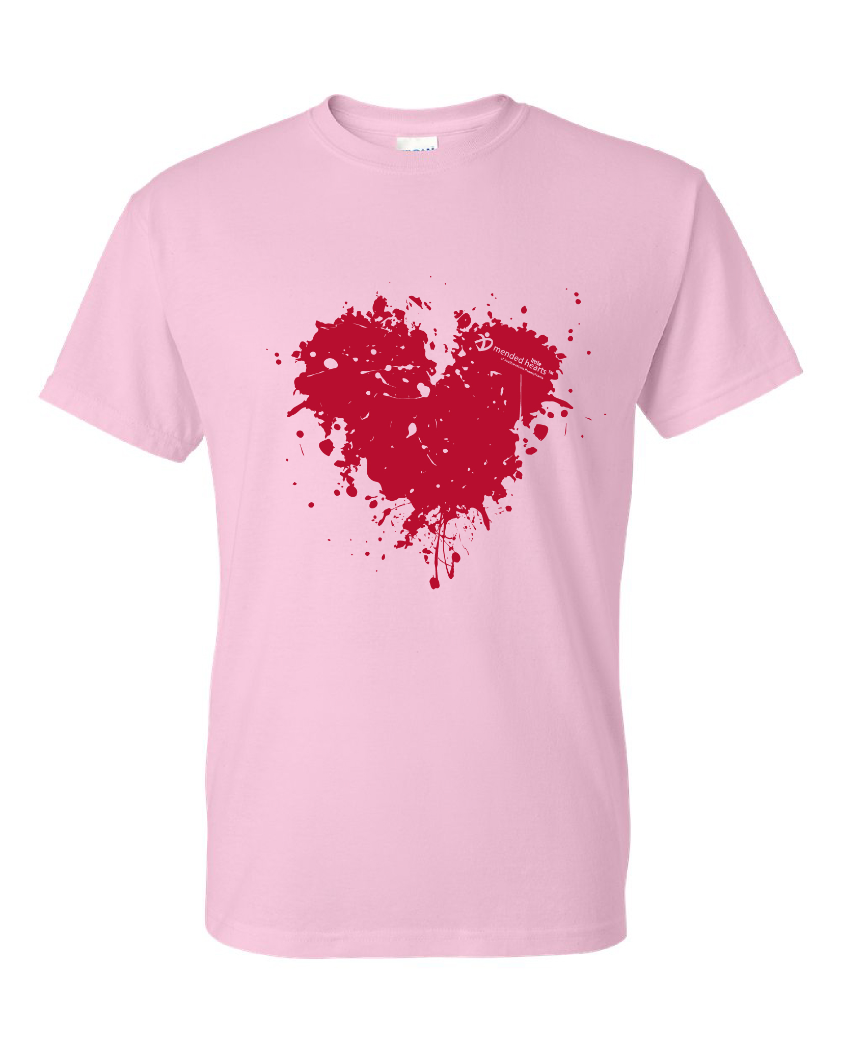 Splatter Heart Available in Multiple Colors