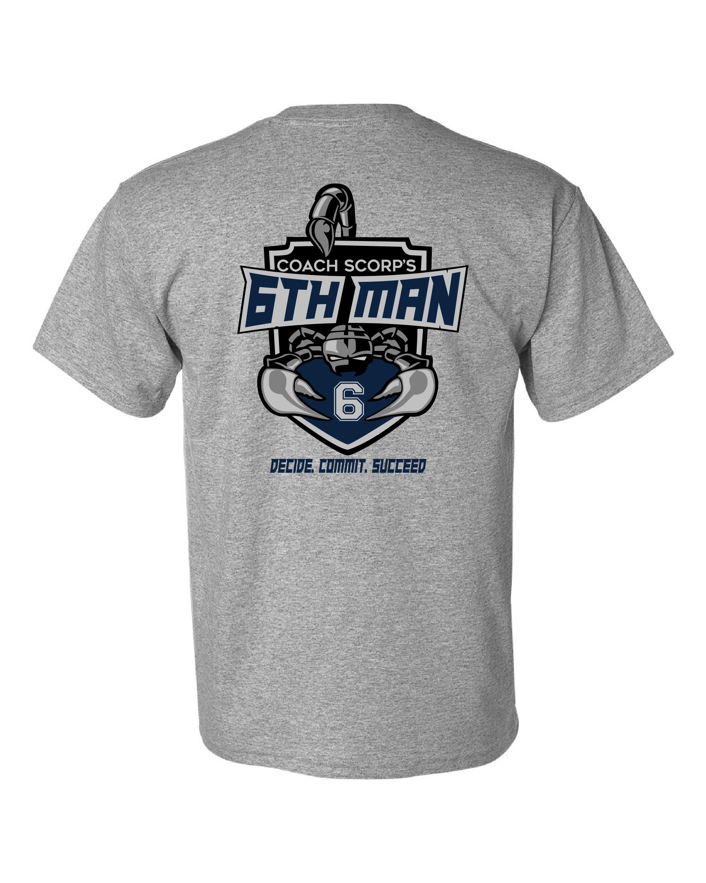 Gildan - DryBlend 50/50 T-Shirt - 6th Man 2 Color - No Flag