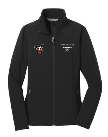 Port Authority® Ladies Core Soft Shell Jacket with Penguins Logo