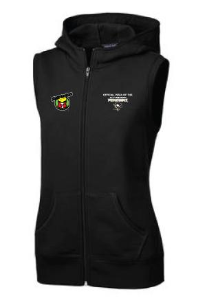 Sport-Tek® Ladies Hooded Fleece Vest with Penguins Logo