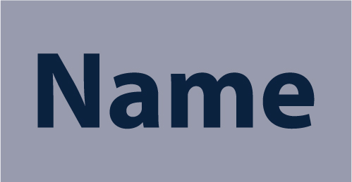 White or Navy Embroidered Name