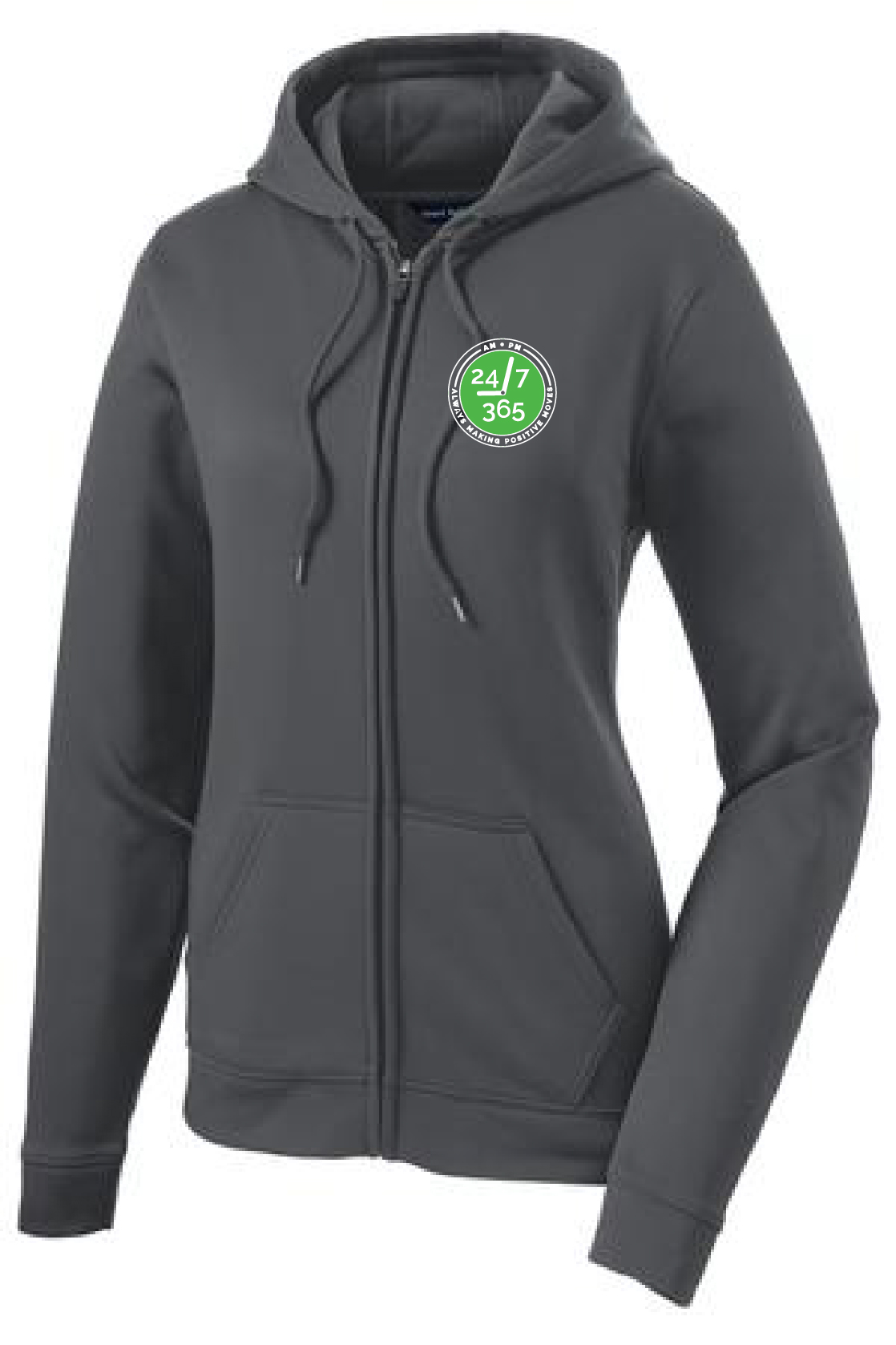 Sport-Tek® Ladies Sport-Wick Fleece Full-Zip Hooded Jacket