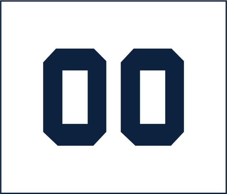 Navy Vinyl Number Section Champ Shirts - Left Sleeve