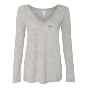 Bella & Canvas Women's Flowy Long Sleeve V-Neck