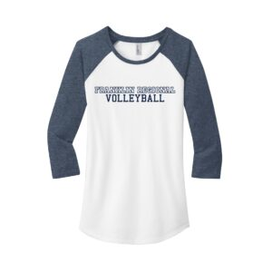 District Women's Fitted 3/4 Sleeve Raglan