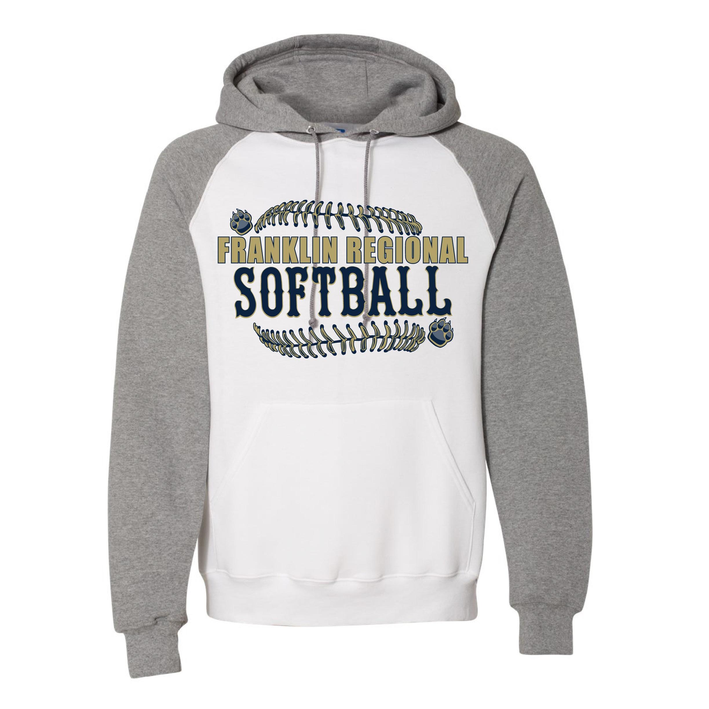 Russel Athletic Colorblock Raglan Hooded Sweatshirt