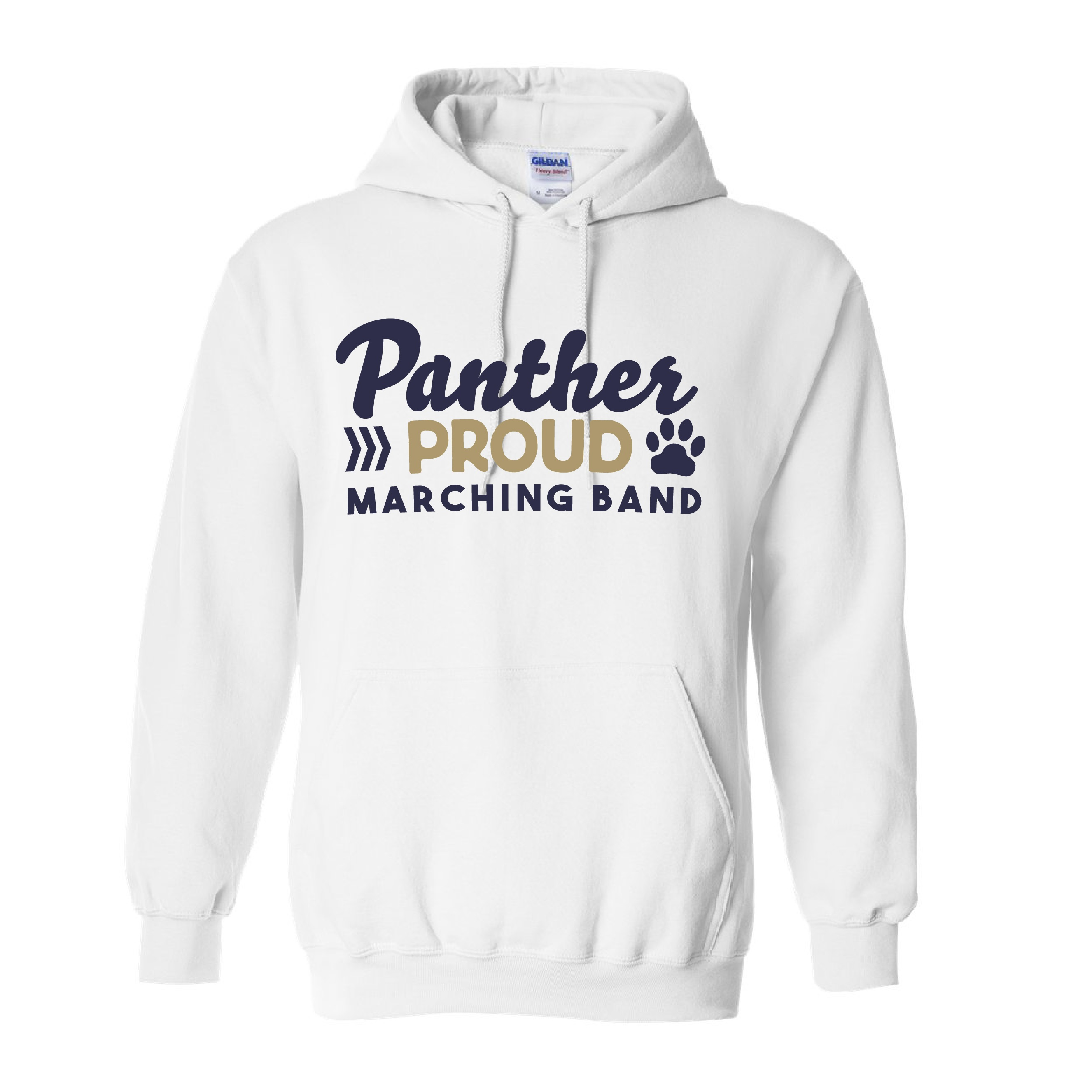 Gildan Heavy Blend Hooded Sweatshirt (Available in White or Grey)
