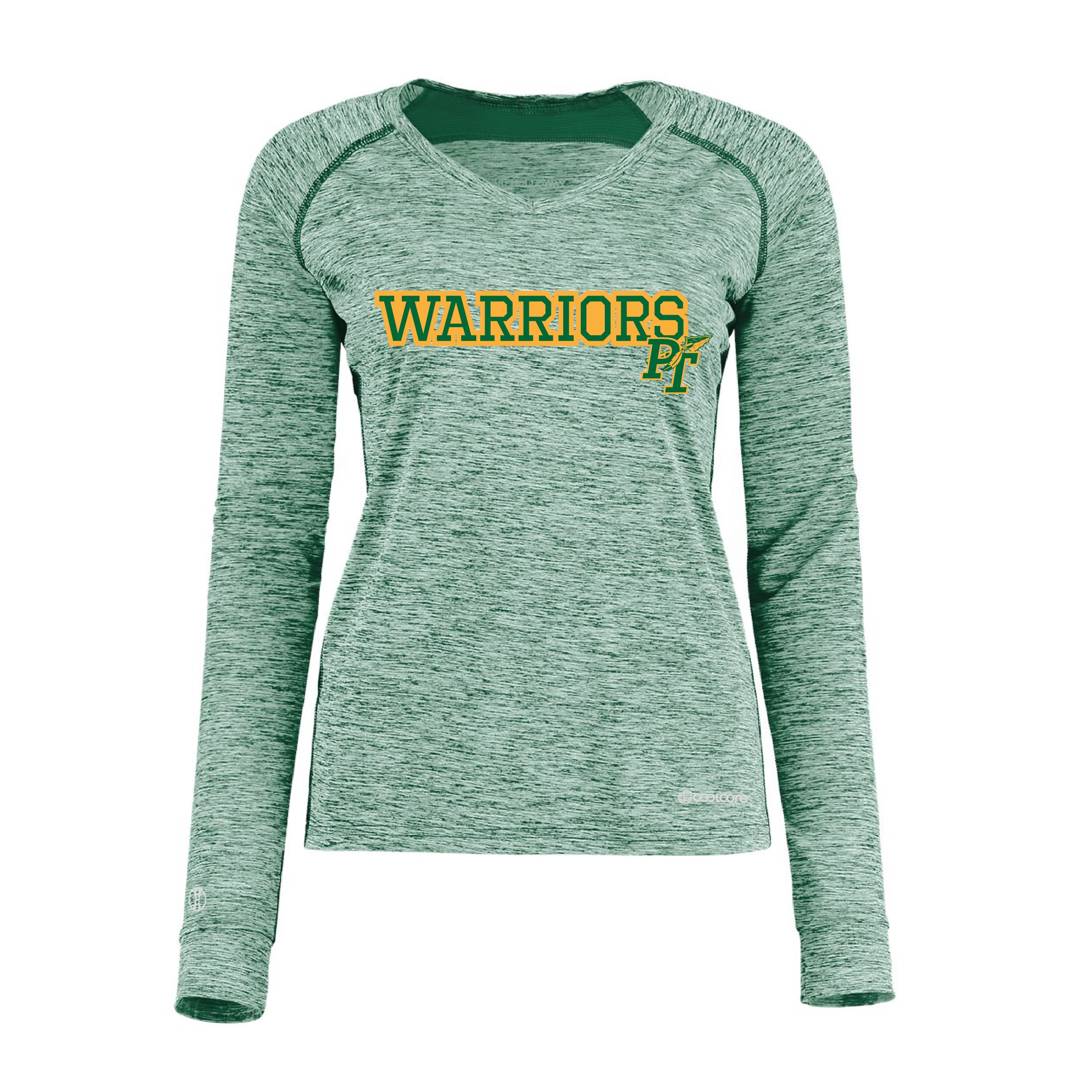Holloway Women's Electrify Cool Care Long Sleeve V-Neck (Grey & Green Available)