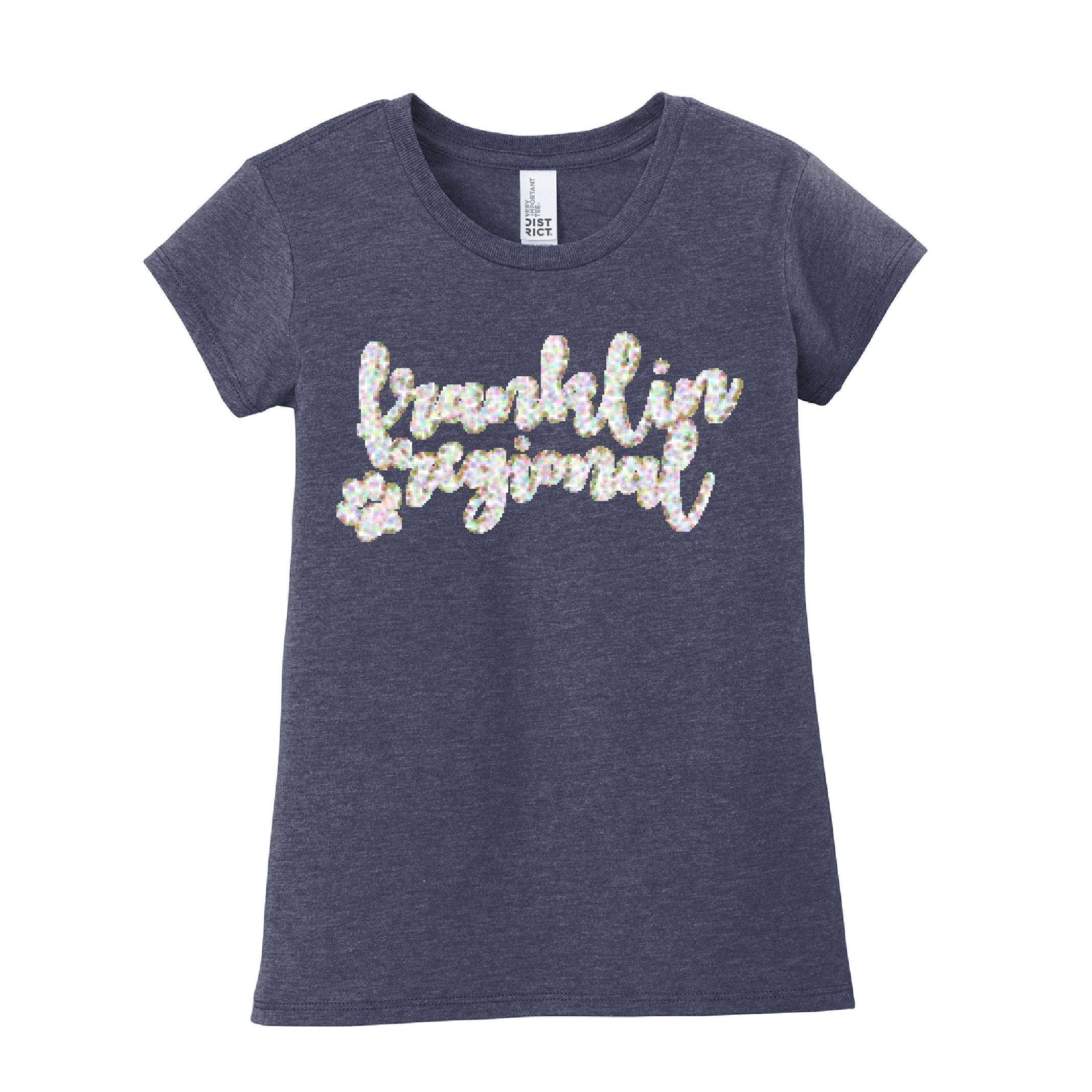 District Girls Very Important Tee GLITTER