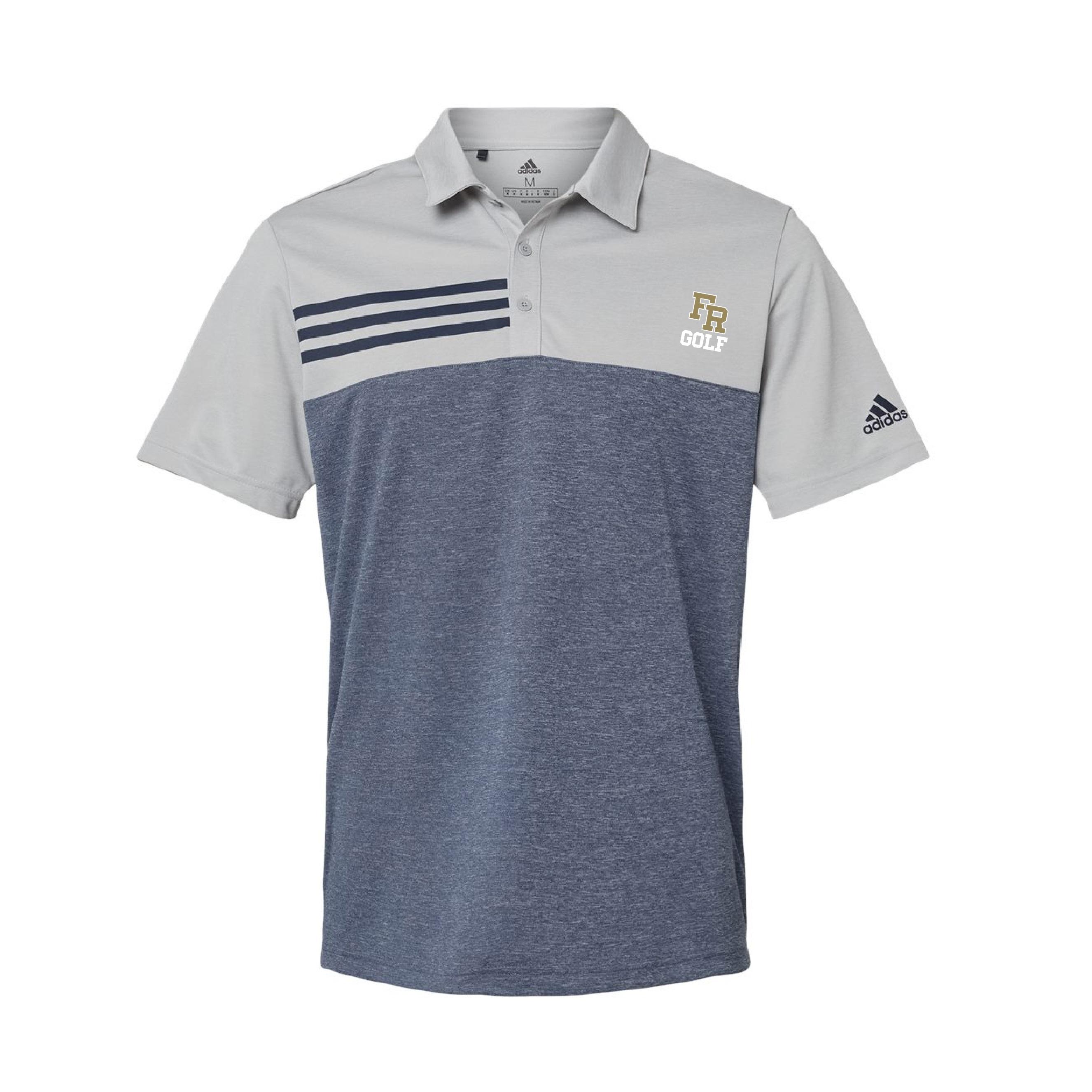 Adidas Heathered Colorblock Sport Shirt